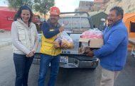 Más de 100 familias afectadas por un derrumbamiento en Bolivia reciben alimentos con el apoyo de las enfermeras conquenses