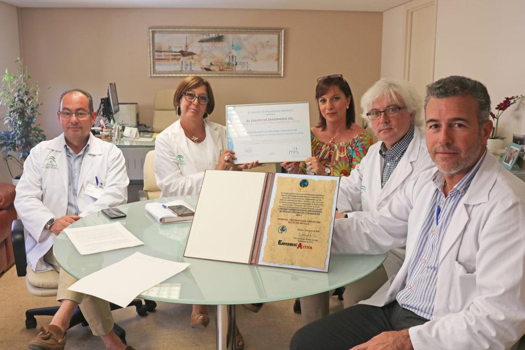 La enfermería del Hospital Vírgen del Rocío de Sevilla recibe un premio internacional por sus cuidados