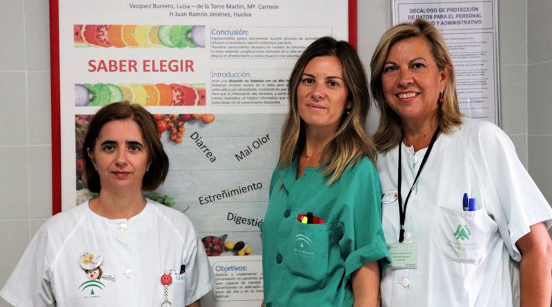 Enfermeras del Hospital Juan Ramón Jiménez (Huelva) forman a personas con ostomía para educar a otras