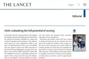 <i>The Lancet</i> dedica su editorial al año de la enfermería