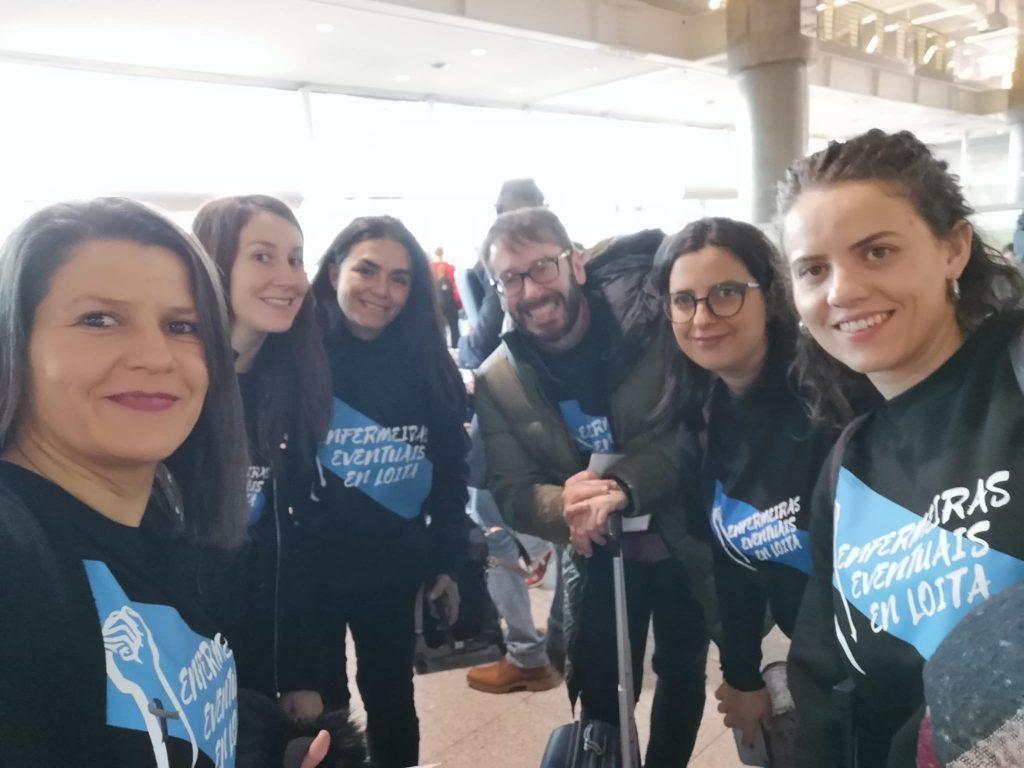 Las enfermeras eventuales de Galicia denuncian su situación en el Parlamento Europeo
