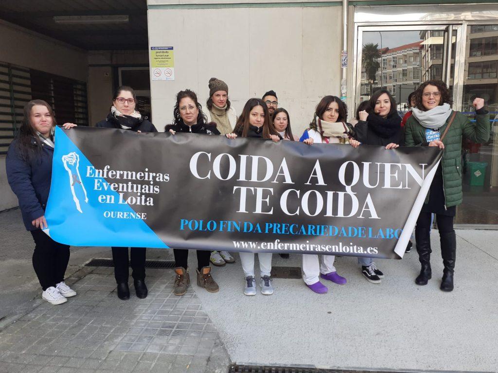 Las enfermeras eventuales gallegas denuncian tener una de las peores ratios de España