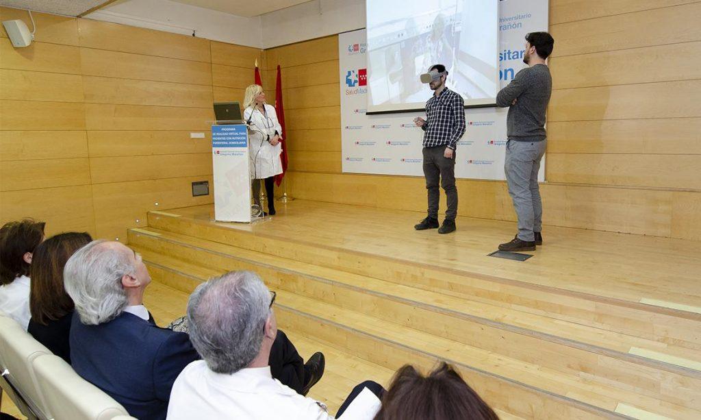 La sanidad madrileña diseña una herramienta de realidad virtual de nutrición mediante catéter
