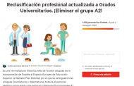 Una enfermera inicia una petición en change.org para eliminar el grupo A2 de la categoría profesional de funcionarios