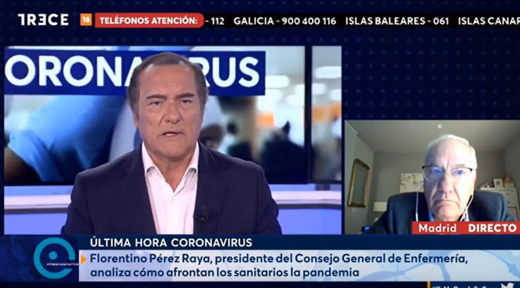 """Florentino Pérez Raya, en <i>El Cascabel</i> de 13 TV: """"Es vergonzoso que se culpe a los sanitarios de haberse contagiado fuera del hospital"""""""