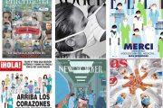 Las portadas de la prensa internacional y nacional se rinden ante los sanitarios
