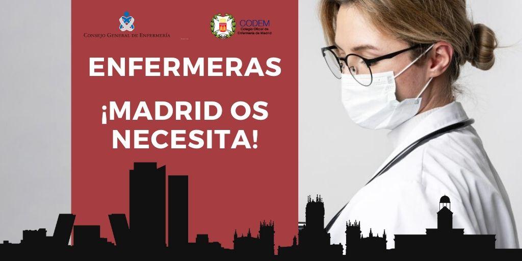 La Comunidad de Madrid busca profesionales para combatir la crisis del coronavirus