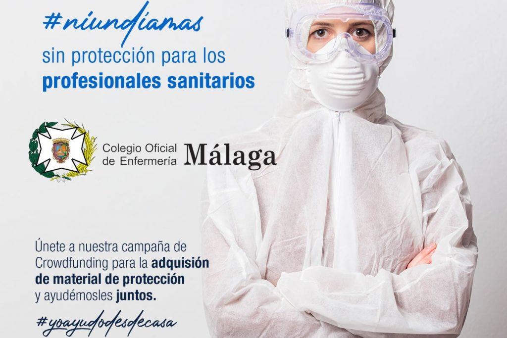 El Colegio de Enfermería de Málaga inicia un crowdfunding para la compra de material sanitario