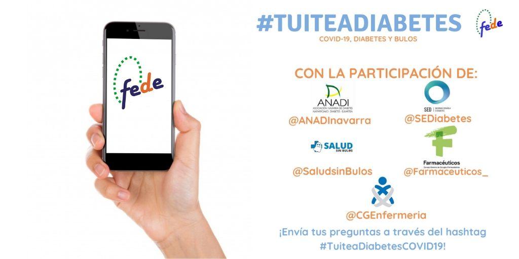 #TuiteaDiabetesCOVID19: Las enfermeras desmontan bulos sobre coronavirus y diabetes en esta iniciativa de FEDE en Twitter