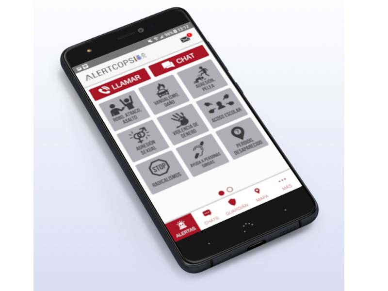 El Ministerio del Interior habilita un botón de SOS para profesionales sanitarios en la App Alertcops