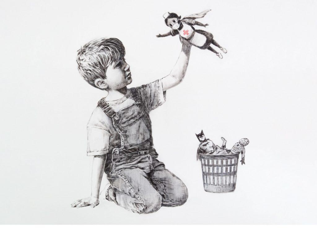 Banksy dedica su última obra a las enfermeras y la acompaña de un mensaje