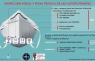 Una infografía explica a los profesionales sanitarios cómo identificar la mascarilla adecuada ante el COVID-19