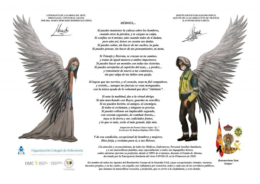 Un guardia civil y una ilustradora se unen para homenajear a todos los profesionales sanitarios de la pandemia