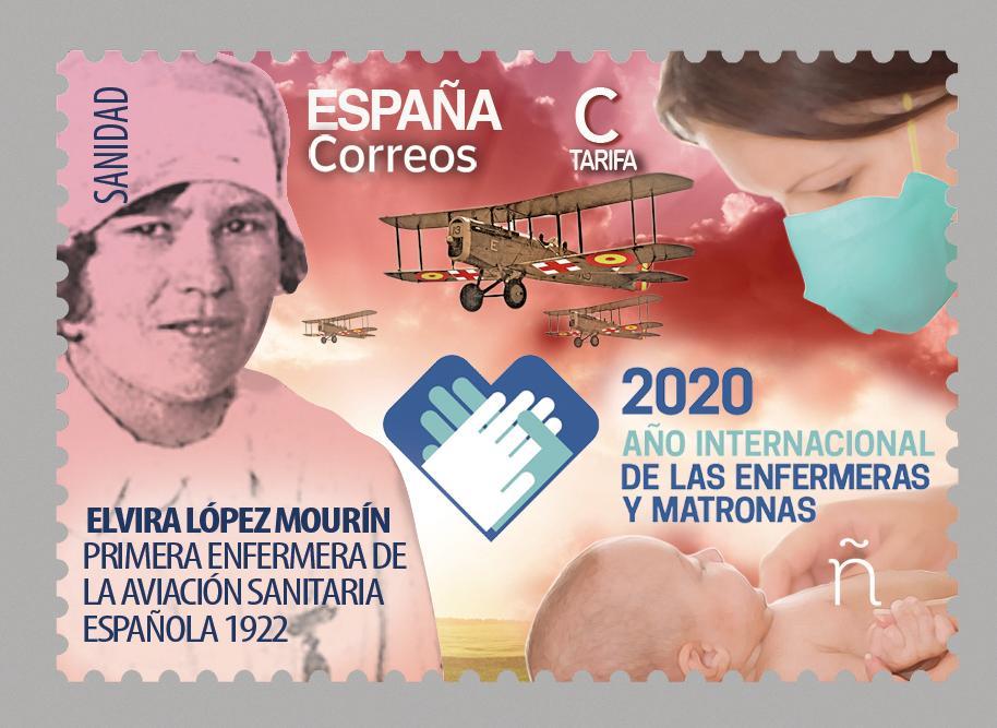 Correos rinde homenaje a las enfermeras españolas con un sello