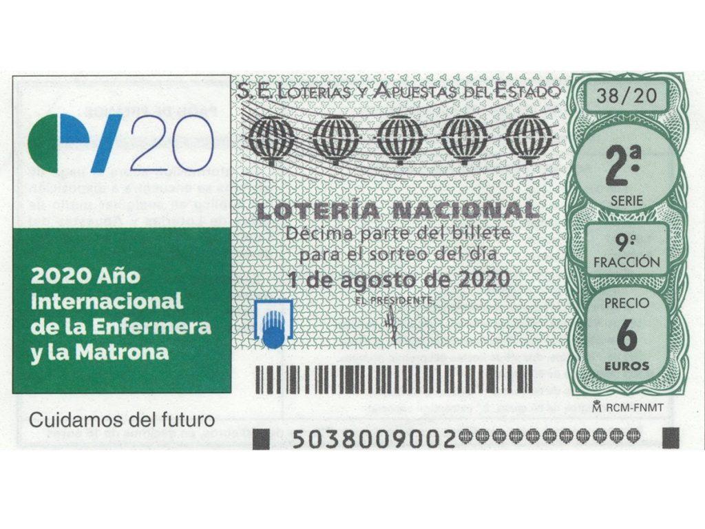 Un cupón de Lotería Nacional reconoce la labor de los enfermeros en el Año Internacional de la Enfermera y La Matrona
