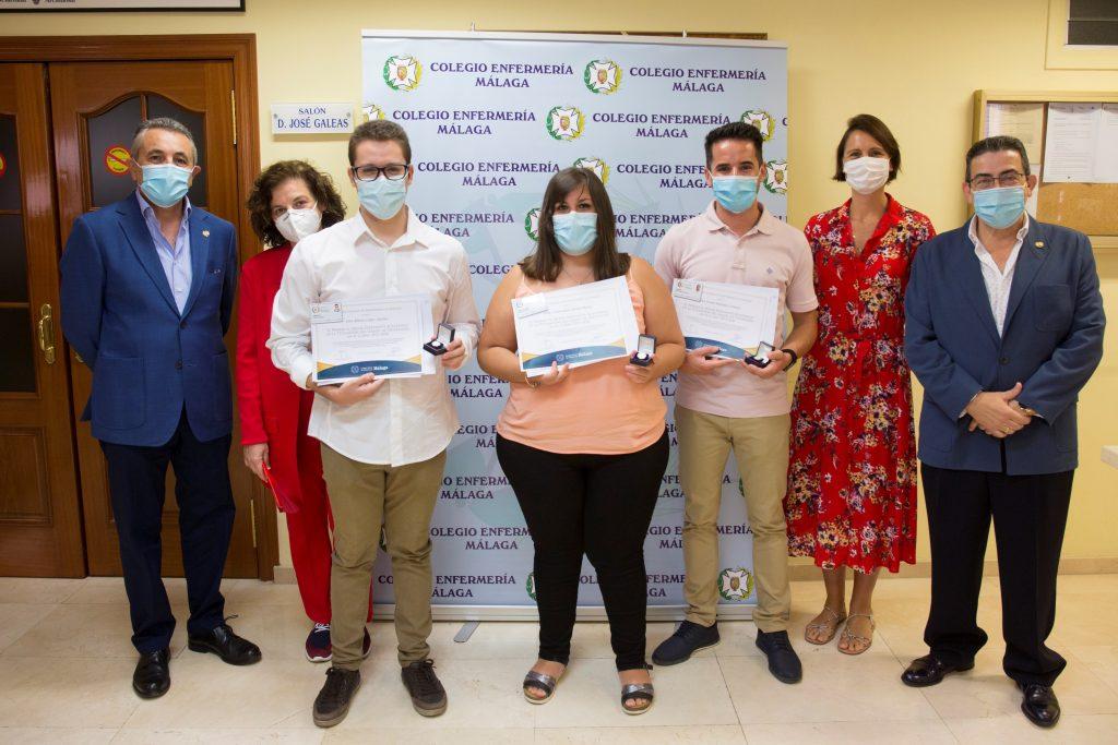 El Colegio de Enfermería de Málaga premia a los mejores expedientes académicos en el curso 2019/2020