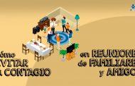 Celebrar reuniones familiares y de amigos con seguridad (COVID-19)
