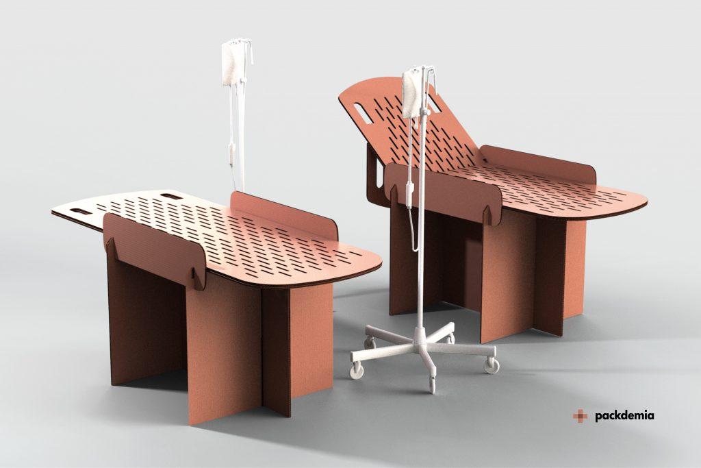 Dos españoles diseñan una cama de cartón para hospitales de campaña y buscan la opinión de las enfermeras para fabricar el producto ideal