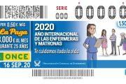 La ONCE homenajea a las enfermeras este miércoles con un cupón especial que ya está a la venta