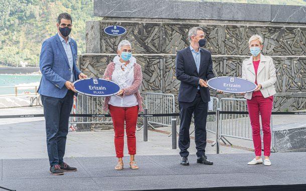 """La ciudad de San Sebastián inaugura oficialmente la """"Plaza de las Enfermeras"""""""