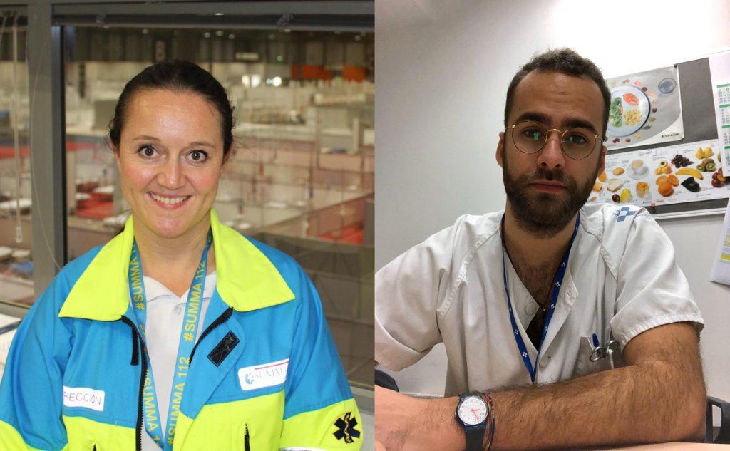 Verónica y Javier, las dos enfermeras que recogerán el Premio Princesa de Asturias de la Concordia en nombre de la profesión