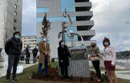 El Colegio de Enfermería de Ourense celebra su centenario con la obra escultórica Lux Aurea