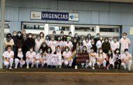 Las enfermeras de Soria felicitan la Navidad al ritmo de