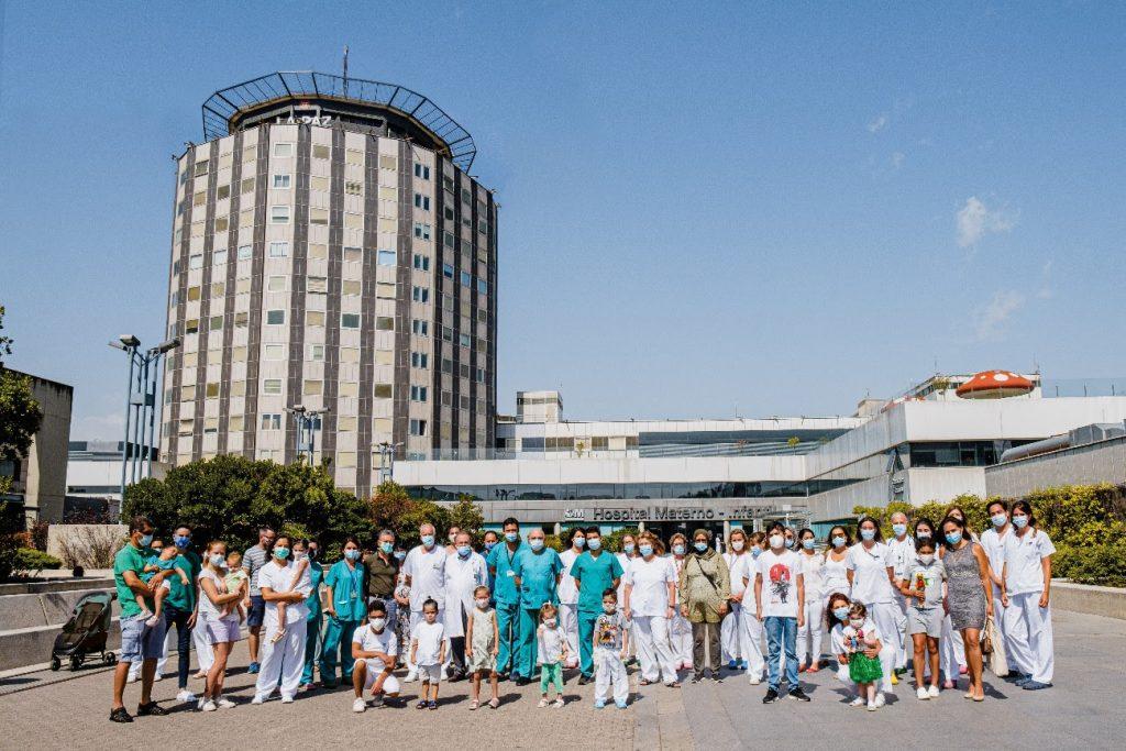 Los niños trasplantados del Hospital La Paz agradecen el esfuerzo del equipo sanitario pese a la pandemia - Noticias de enfermería y salud