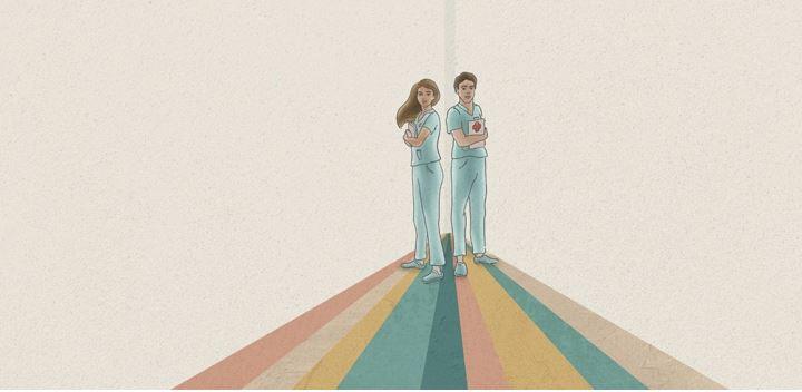 Una exposición define qué es la enfermería a través del arte