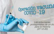 Las enfermeras, protagonistas de un día histórico contra la pandemia