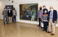 El Colegio de Enfermería de Alicante recibe la donación de un cuadro sobre el COVID-19 obra del pintor Jordi Jordá